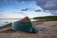 A boat on the beach in Ralswieck, Mecklenburg-Western Pomerania, Germany