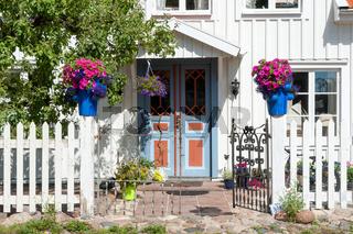 Eingang eines schwedischen Hauses