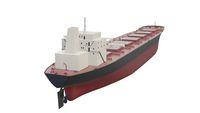 Bulk Carrier big cargo ship isolated 3d rendering