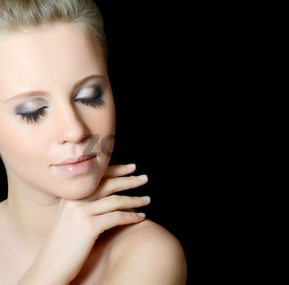 The beautiful girl with Evening make-up