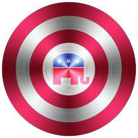 republican metallic button