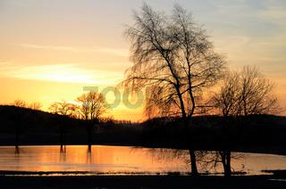 Salmendinger See bei Sonnenaufgang