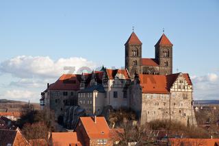 Sicht auf das Quedlinburger Schloss vom Münzberg