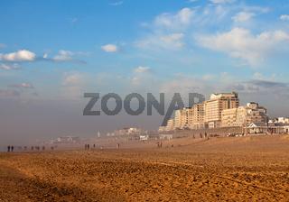 The coast of the North Sea in Noordwijk