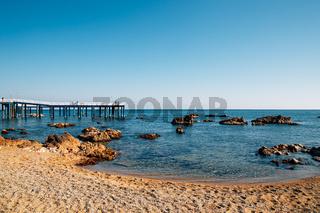 Samsa Marine Walkway and beach in Yeongdeok, Korea