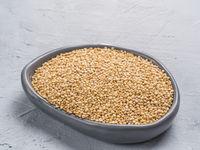 Dry quinoa close up