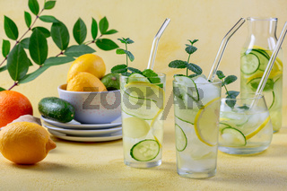 Refreshing drink Sassy water.