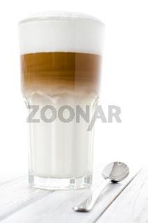 Latte Macchiato im Glas