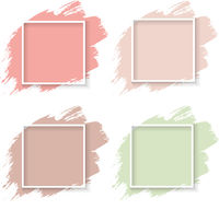 Pastel Blot With Frame And White Background