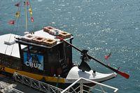 Traditional port wine transport boat in Porto - Portugal
