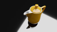yellow ceramic coffee pot