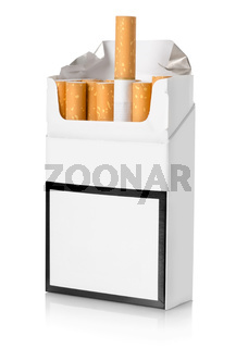 Pack of cigarettes isolated