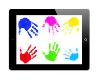 Tablet-PC with Handprints