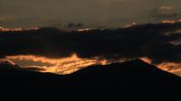 Bright light clouds over Mount Wilerhorn.