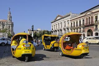 Kleine Taxi in der Altstadt von Havanna