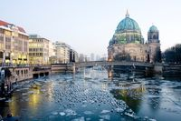 Berlin Cathedral at twilight, Berlin, Germany