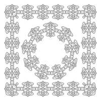 Celtic Pattern Isolated on White Background. Scandinavian Design. Decorative Vikings Logo