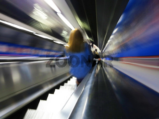 Escalator in the London underground