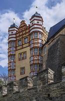 Bernburg Castle on the Saale river