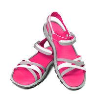 Pair of female summer sandals