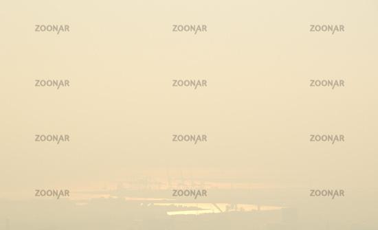 Fog and sunshine in Osaka