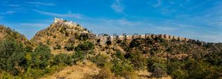 Panorama of Kumbhalgrh fort. Rajasthan