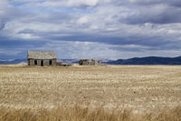 Lonesome house in the wasteland of Idaho