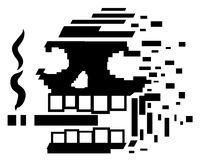 Smoking Skull Disintegrating