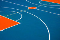 basketball court closeup, outdoor basketball field  -