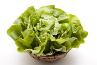 Kopfsalat im Korb