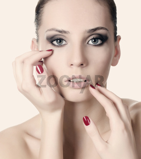 The young beautiful girl with a Evening make-up