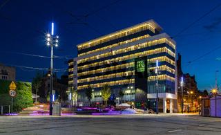 Katowice City Hall - Residents Service Office at Night