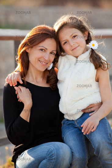 family love, mother and daughter