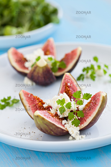 figs with feta cheese