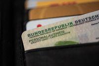 German ID card in wallet