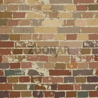 Old brick wall pattern. Vector illustration, EPS10