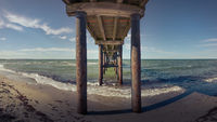 Pier on a sunny day at the Baltic Sea
