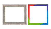 Antique and modern picture frame.