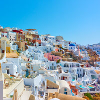 Oia town in Santorini Island in Greece