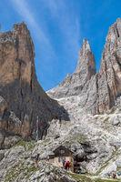 Vajolet towers, Catinaccio group, Trentino, Italy