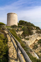 A view of the Tajo Tower on the Cliffs of Barbate in Andalusia