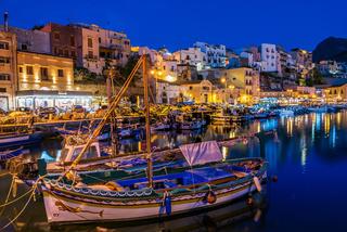 Port of Castellammare del Golfo by night