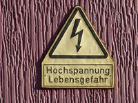 Attention high-voltage