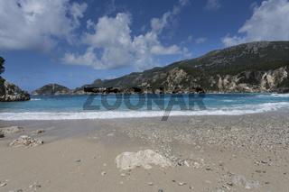 Rovinia Beach bei Liapades auf der Insel Korfu, Gr
