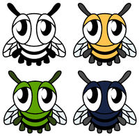 Sad Fly Cartoon Design Element