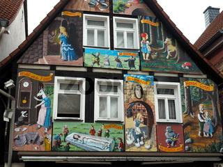 """Haus mit Märchenbemalung, """"Steinau an der Straße"""""""