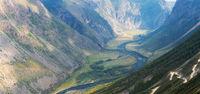Altai mountain road pass