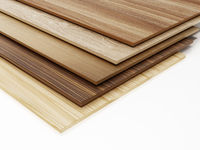 Stack of wood planks isolated on white background. 3D illustration
