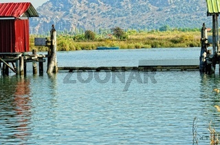 Schleusentor am Dalyan Fluss Türkei