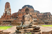 Ruins of old historical and religious capital Ayutthaya in Thailand